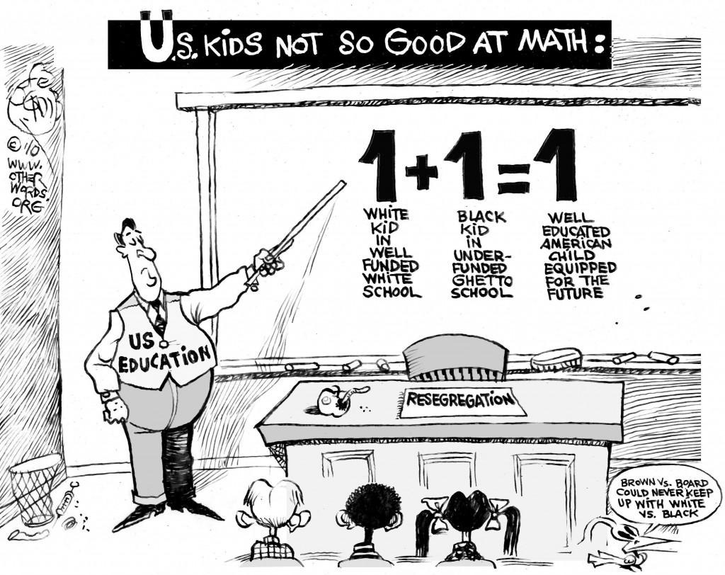 School Resegregation cartoon