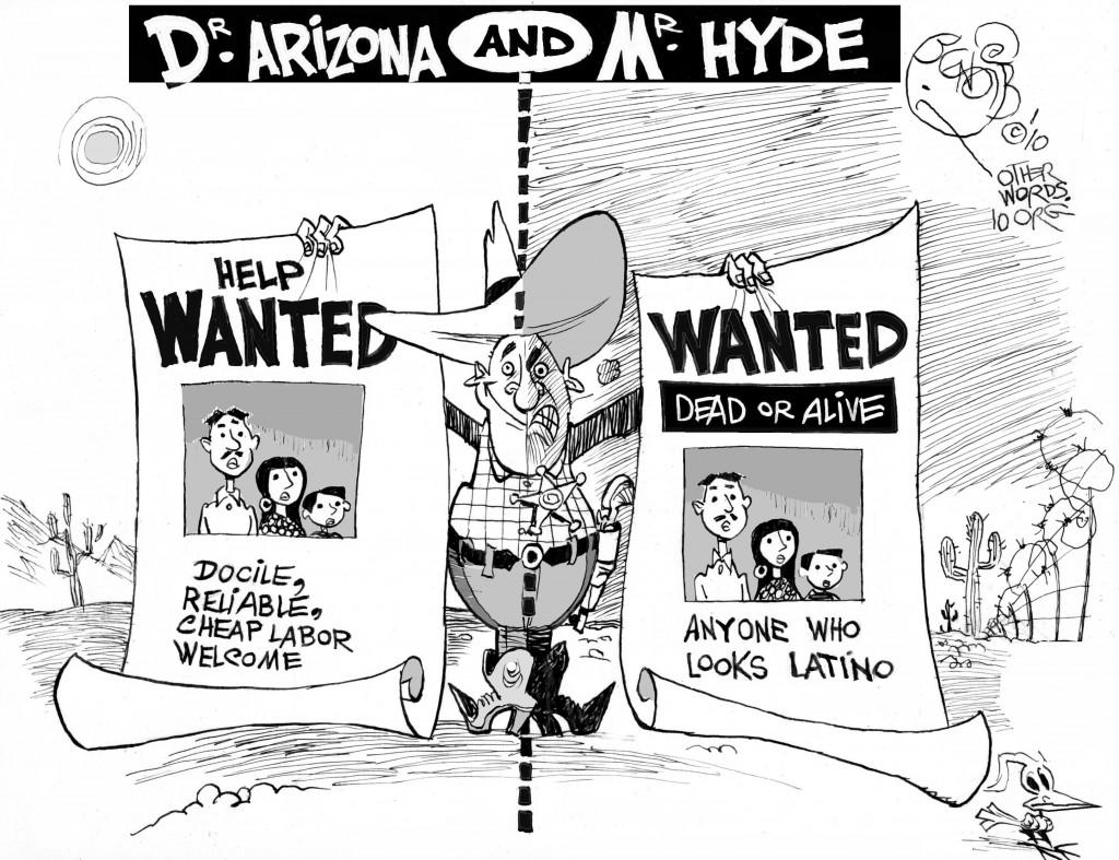Arizona Immigration cartoon