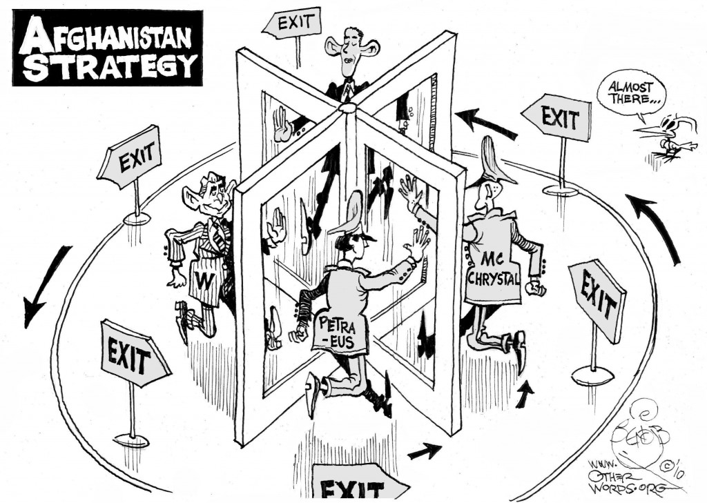 Afghanistan Exit Strategy cartoon