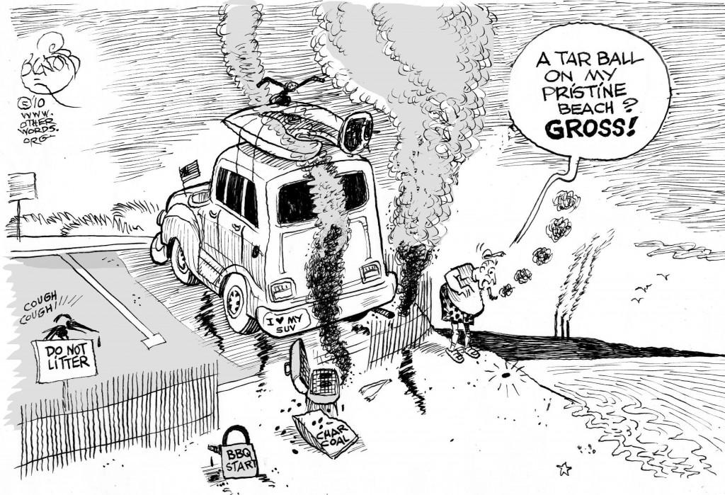Tar Balls cartoon