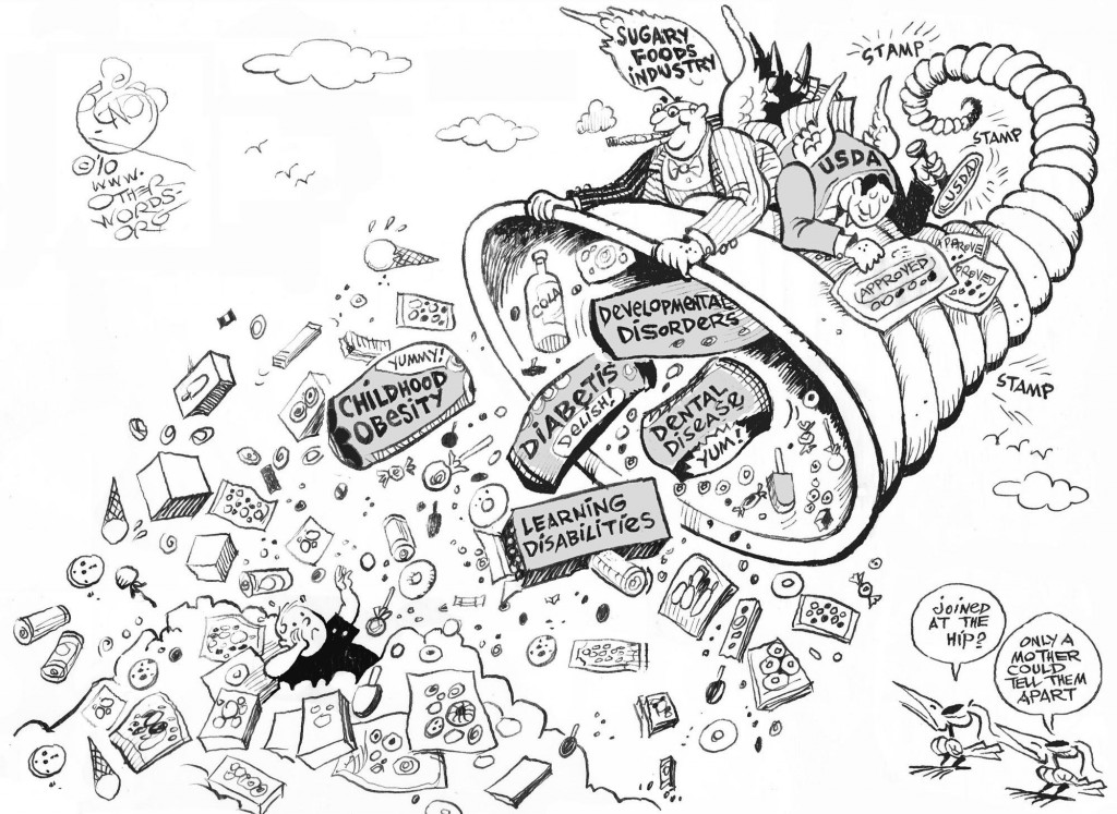Sugary Foods Industry cartoon