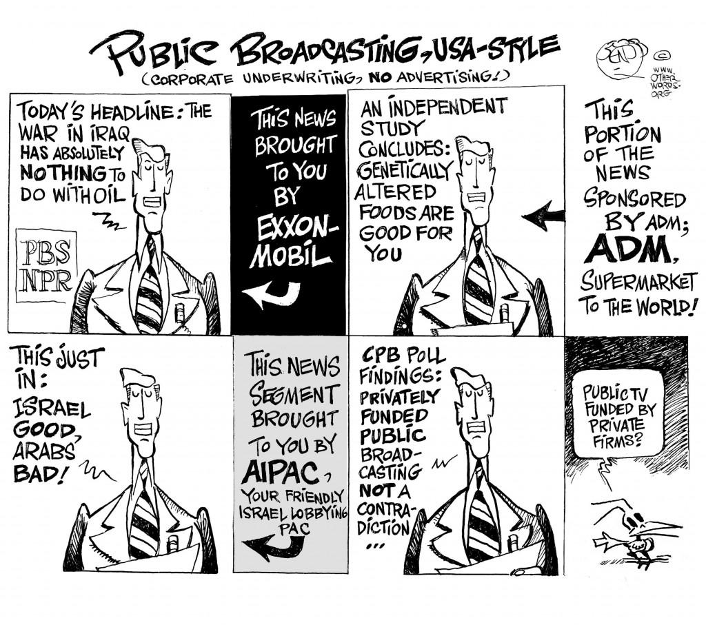 Private Broadcasting cartoon