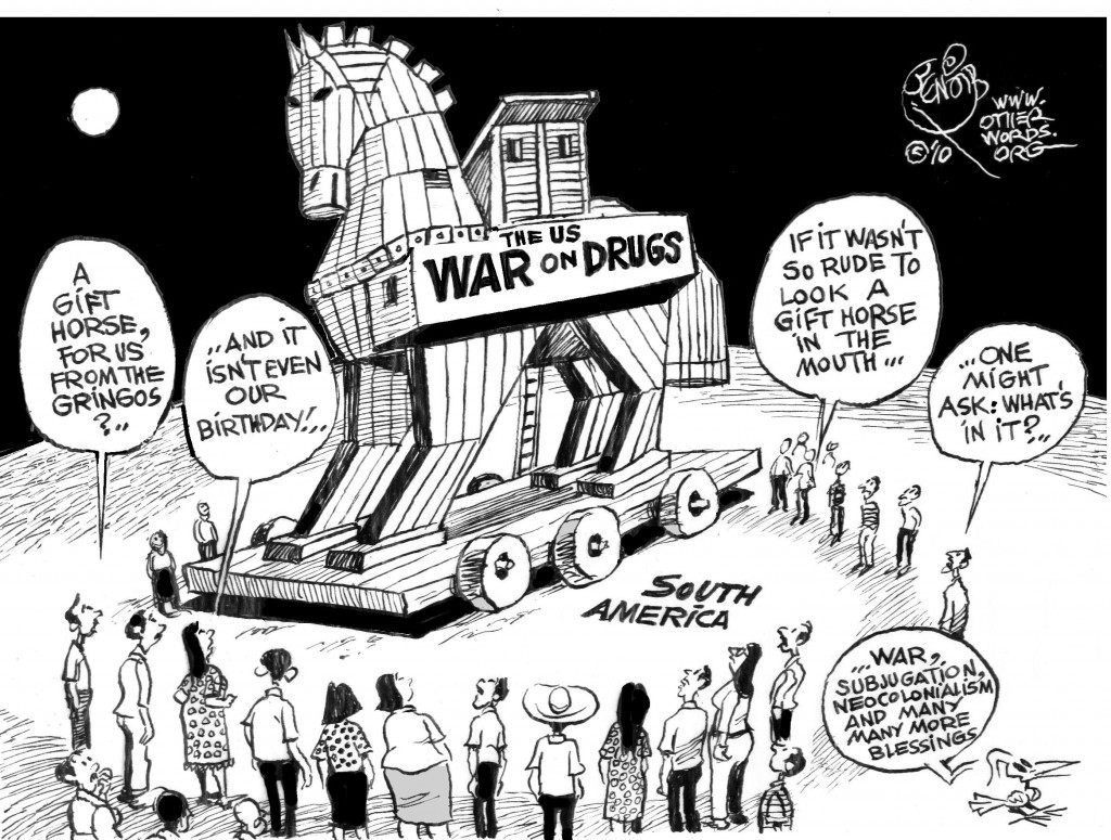 Trojan Drug Horse cartoon