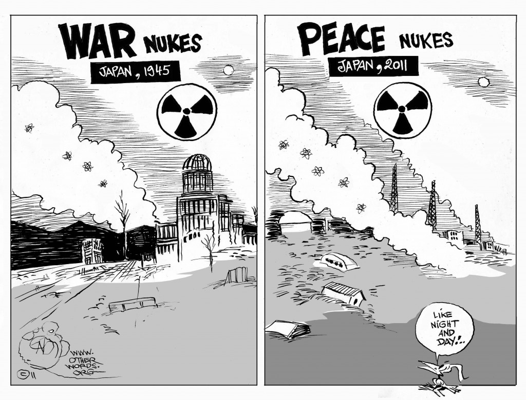 Nuclear War and Peace cartoon