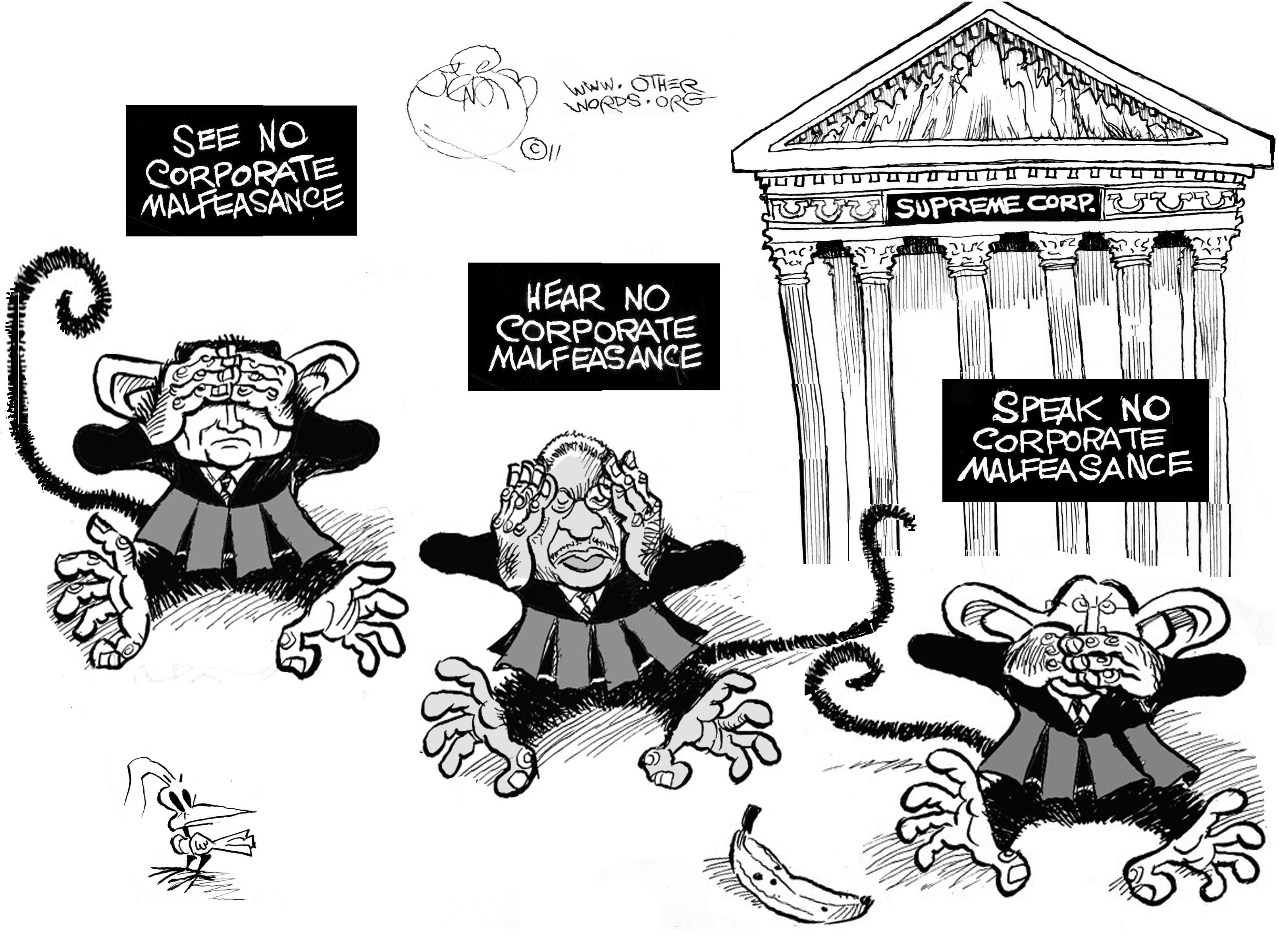 Too Many Rulings are Supremely Courteous to Corporations
