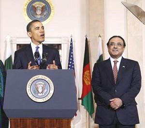President Obama with Pakistani President Asif Ali Zardari.