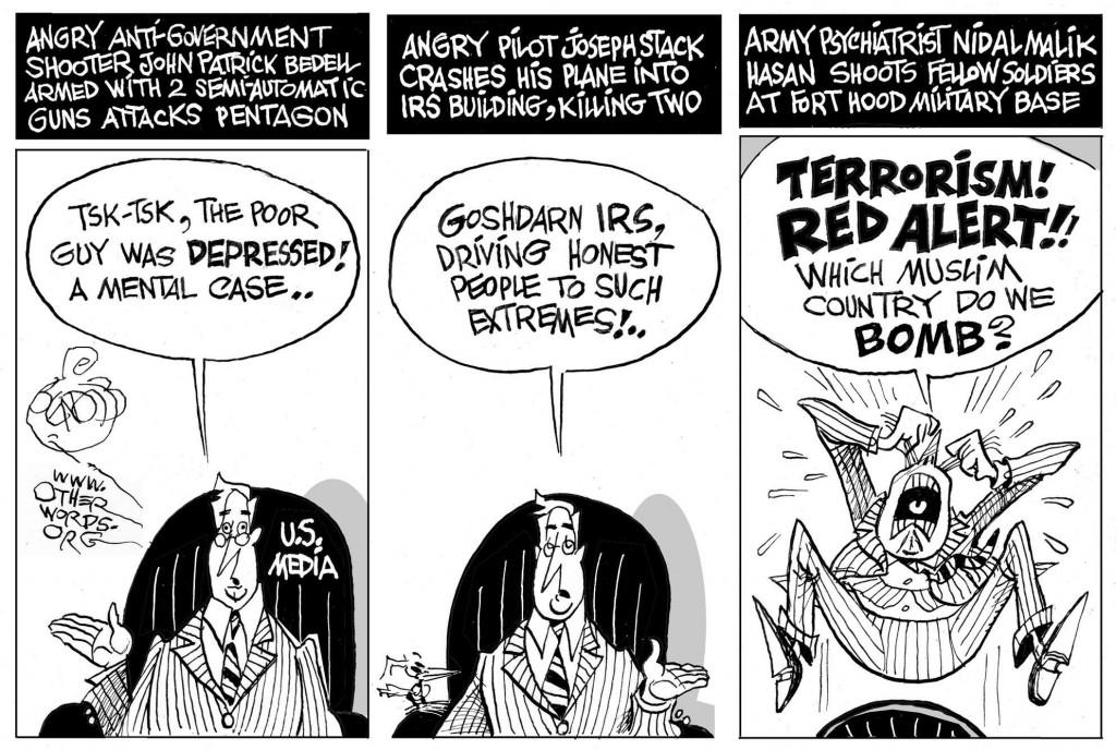 Terrorism in the Eye of the Beholder cartoon