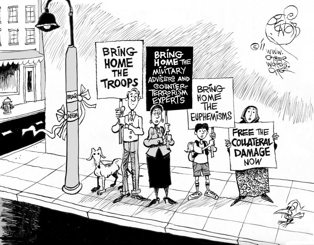 Enough War Already cartoon