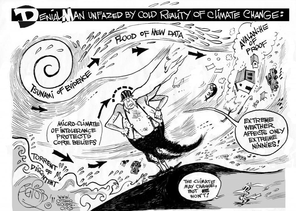 Climate Denial Man cartoon