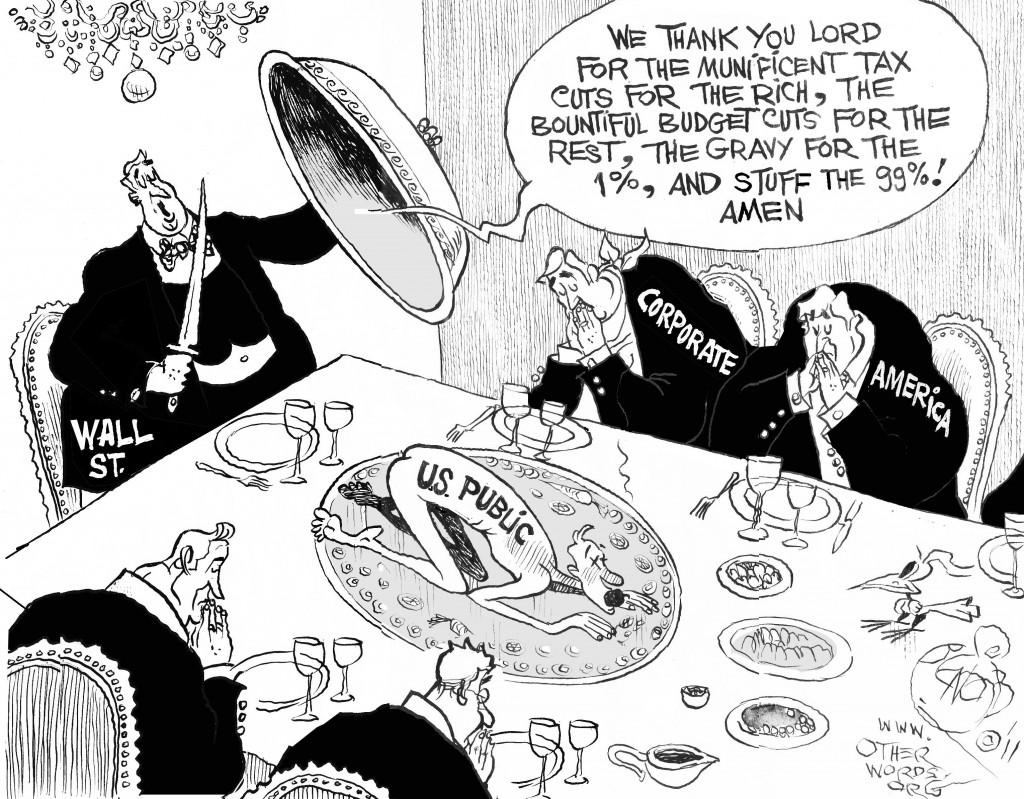 Thanksgiving on Wall Street cartoon
