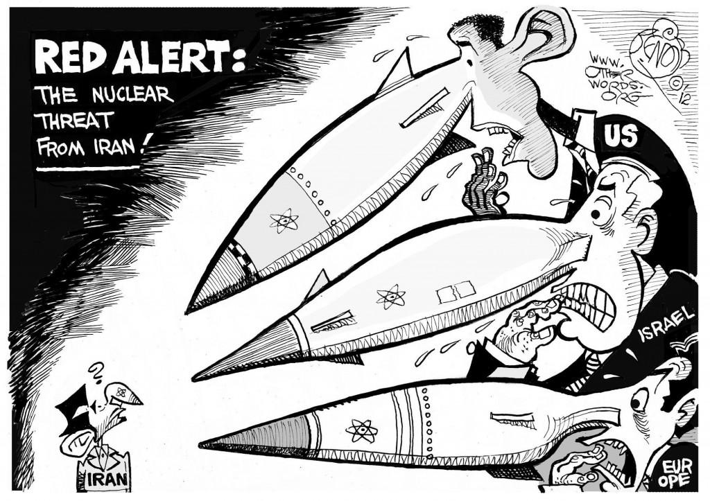 Nuclear Alert, an OtherWords cartoon by Khalil Bendib.