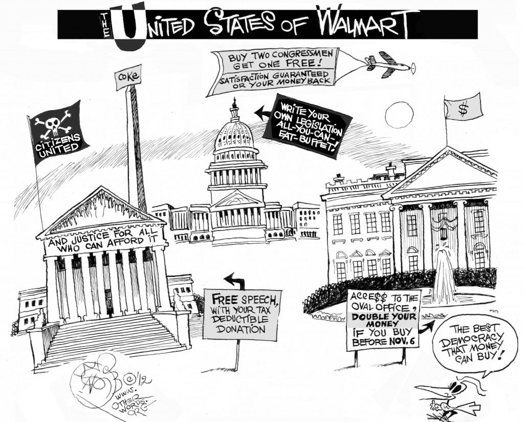 United States of Walmart cartoon