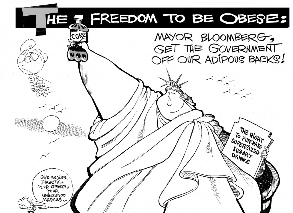 Supersized Liberty cartoon