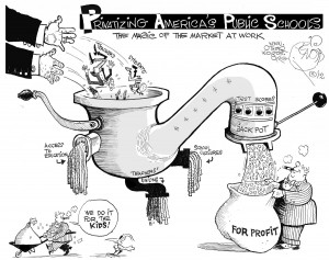 Privatizing Public Schools cartoon