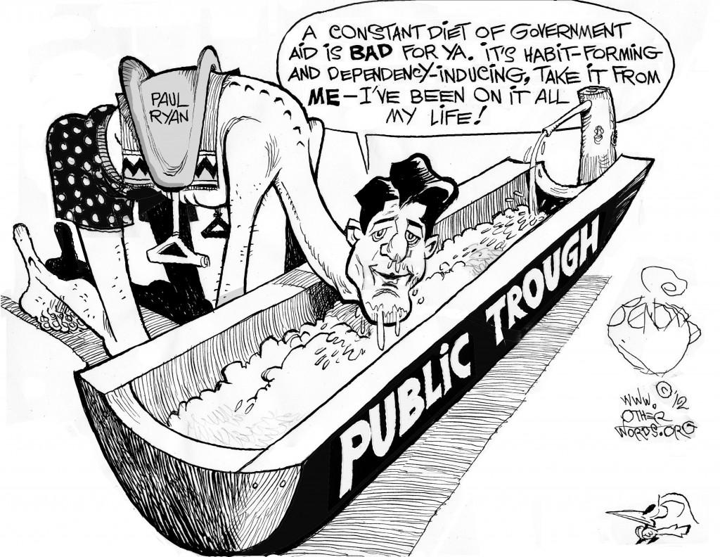Ryan at the Trough cartoon