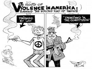 Holy Smokes, an OtherWords cartoon by Khalil Bendib