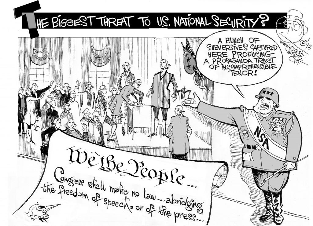 A Bunch of Subversives, an OtherWords cartoon by Khalil Bendib