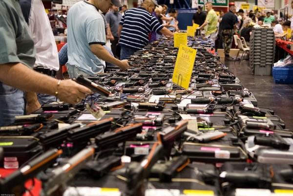 Browsing at a Gun Show