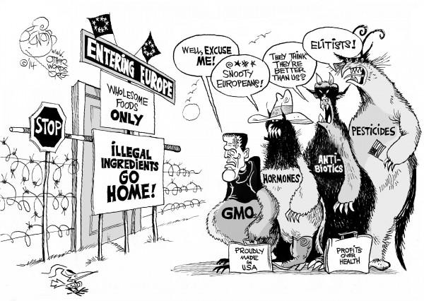 Illegal Ingredients, an OtherWords cartoon by Khalil Bendib
