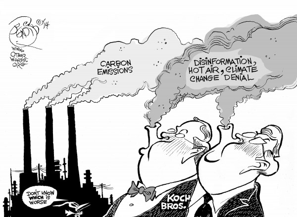 Curbing Carbon Pollution at the Source, an OtherWords cartoon by Khalil Bendib