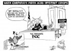 The Corporate Fox in the Chicken Coop, an OtherWords cartoon by Khalil Bendib