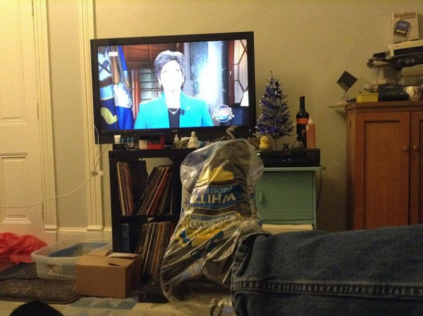 Watching Joni Ernst Speech