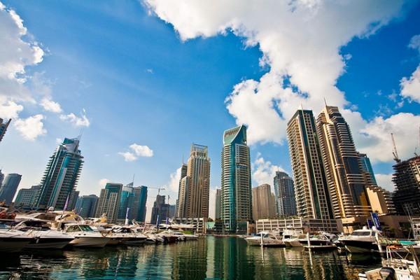 Boats harbored in Dubai