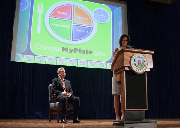 Michelle Obama endorsing MyPlate.gov