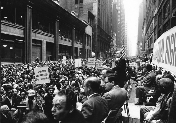 New York Garment District rally for civil rights, May 17, 1960. Kheel Center/ Flickr