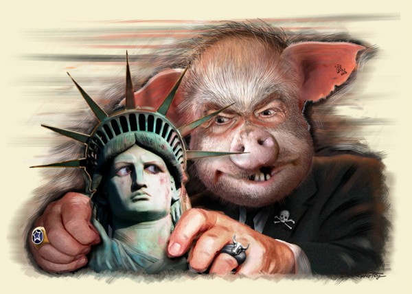 corporate-threat-liberty-pig-statue