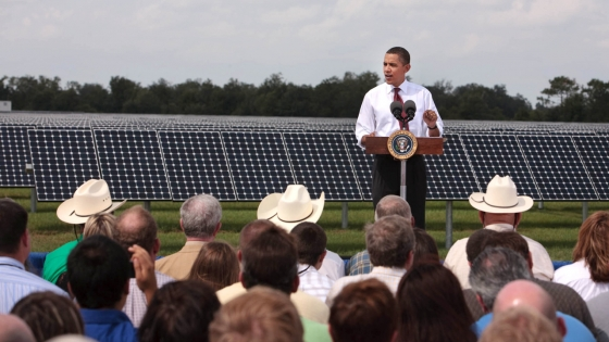 Obama Takes a Walk on the Greener Side