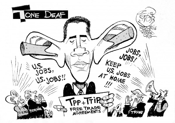 tone-deaf-obama-clinton-sanders-trump-jobs-ttp-otherwords-cartoon